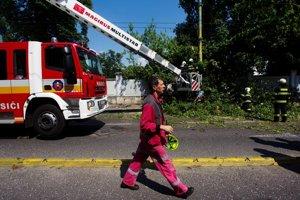 Zásah po páde stromu pri Prezidentskom paláci hradili hasiči. Poškodené auto zaplatí poisťovňa a zisťuje vinníka.
