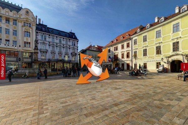Pohyblivý pohľad na Hlavné námestie