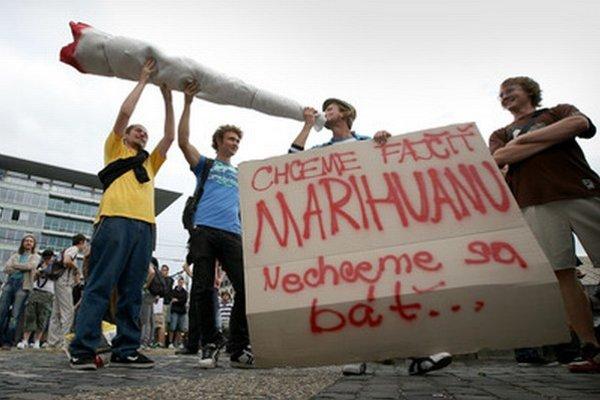 Protest za dekriminalizáciu marihuany z roku 2010.