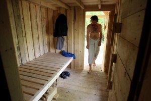 Lesná sauna.
