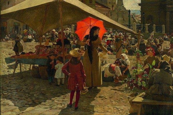 Dominik Skutecký, Trh v Banskej Bystrici, 1889.