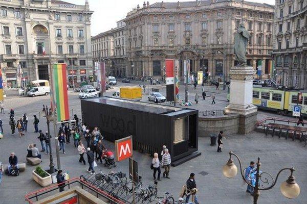 Kontajner woodbox v Milane.
