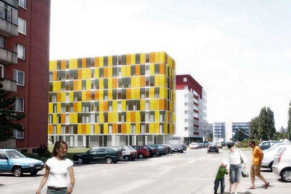 Vizualizácia novej stavby.
