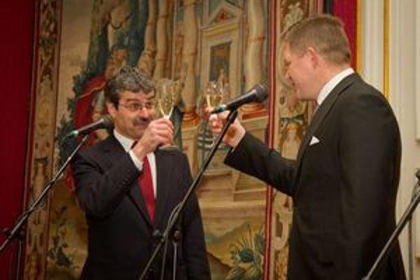 Premiér s primátorom si pripili na Nový rok i 20. výročie vzniku Slovenskej republiky.