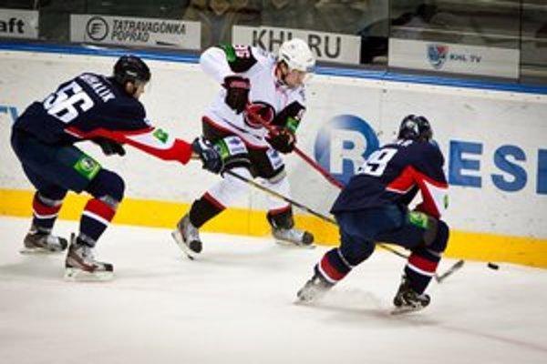 Piatkový zápas v Bratislave. HC Slovan Bratislava - Avtomobilist Jekaterinburg.