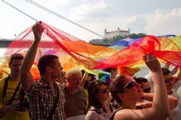 Dúhový pochod v Bratislave.