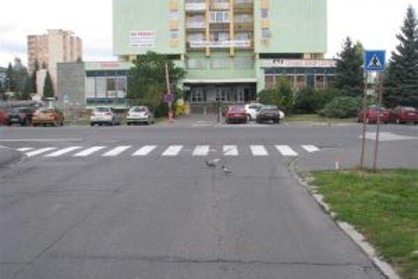 Nehoda sa stala na tejto križovatke.