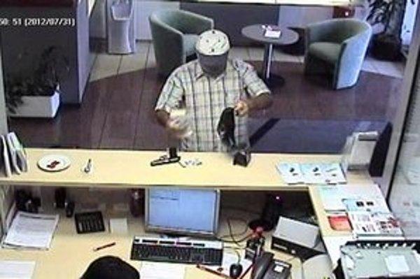 Zlodej v banke.