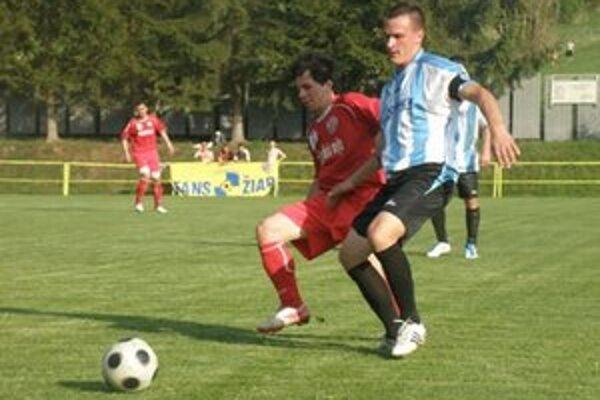 Momentka zo zápasu Žiar/L. Vieska - K. N. Mesto.