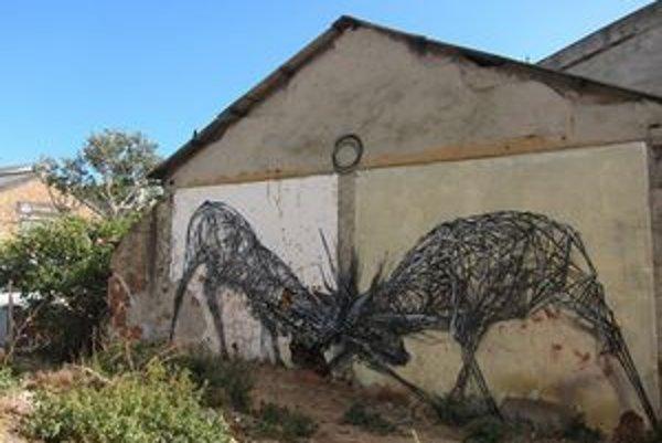 Na Street Art Fest príde z DAL z Južnej Afriky. Takto premieňa biele plochy Kapského Mesta na industriálne 3D objekty.