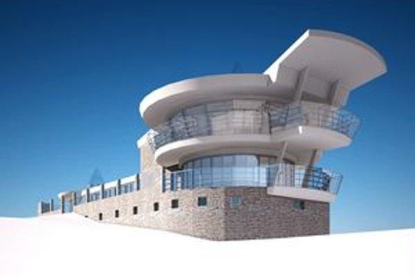 Vizualizácia vyhliadkovej veže. Tá by mala na Skalke vyrásť do konca októbra budúceho roku.