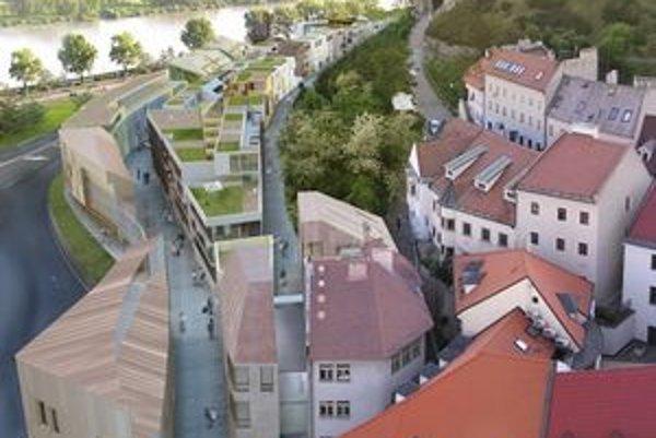 V popredí domy od T-studio z Ríma, v pozadí návrhy architektov Šimkoviča, Meliša, Michalka, Langa a Valla so Sadovským.