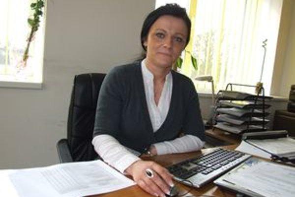 Lívia Adamová, riaditeľka Úradu práce, sociálnych vecí a rodiny v Banskej Štiavnici.