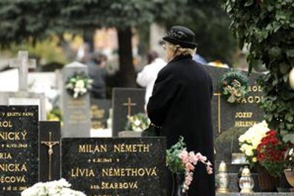 Marianum vyberá poplatky za hrobové miesta v určitých termínoch priamo na cintorínoch.