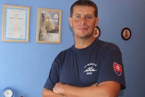 Čestný hosť podujatia, diaľkový plavec Ivan Gazdík.