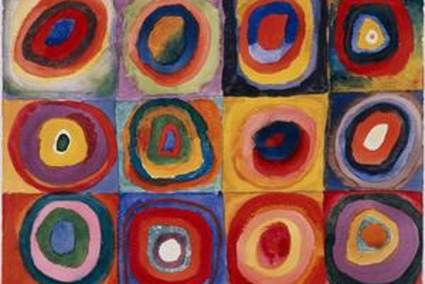 Vasilij Kandinskij: Farebná štúdia, 1913.