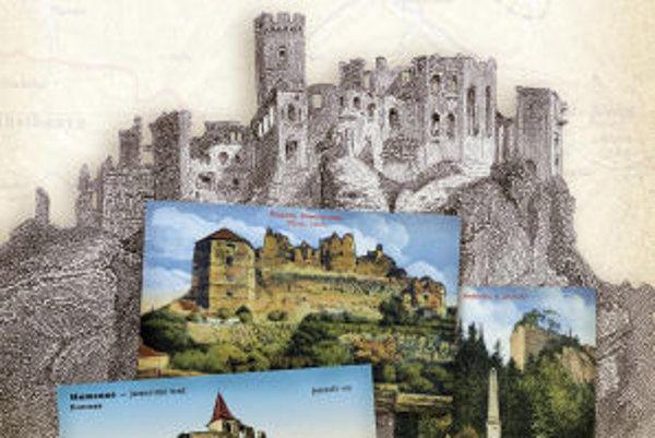 Históriu panských sídiel v knihe Krajina hradov dokumentujú staré pohľadnice.