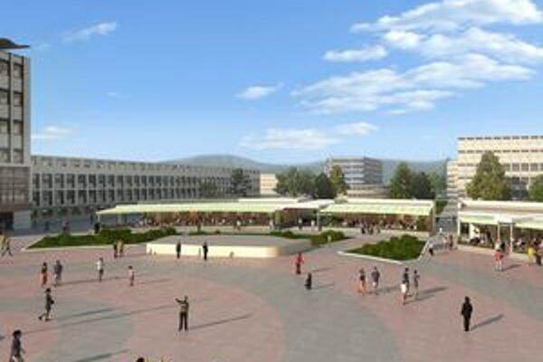 Nové obchodné centrum chcú postaviť do novembra.Termín však môže ohroziť zlé počasie.