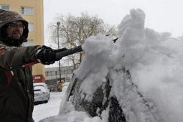Bratislavčania sa včera venovali odpratávaniu snehu. Napadlo ho 20 centimetrov.