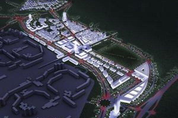 South City má ležať medzi Petržalkou a Rusovcami. Investícia sa odhaduje na 1,5 miliardy eur.
