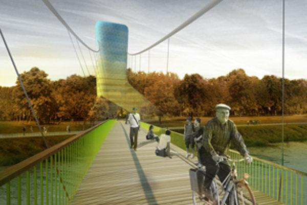 Peši alebo na bicykli, malý most bez áut by rozhodne potešil nejedného Bratislavčana.