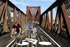 Most pre cyklistov? Taký v Bratislave nemáme.
