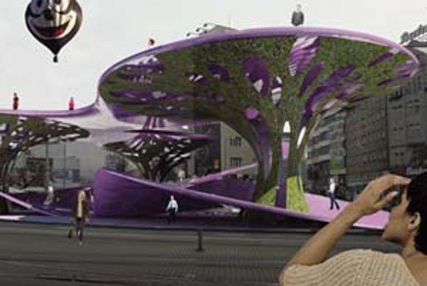 Futuristické objekty by ako liany poprepájali nové priestory so starými.