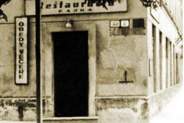 Reštaurácia Fajka na Suchom mýte.