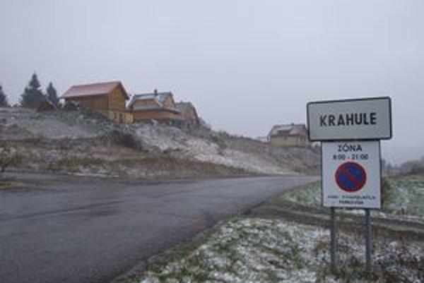 Na Krahuliach dnes snežilo.