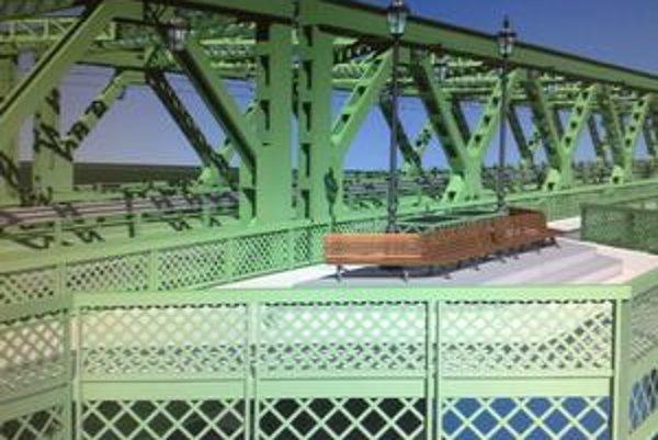 Aj takto by mohol vyzerať Starý most o dva roky – ak magistrát opäť nezmení plány. Mal by byť v mostnej zelenej, ktorá by pripomínala atmosféru období, keď sa podobné mosty stavali. Nad každým pilierom by mala byť terasa pre chodcov.