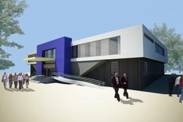Plánovaná podoba karloveského centra. Portál má byť vo farbách mestskej časti.