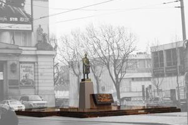 Kópia pôvodnej sochy od Ladislava Šalouna by mala byť bronzová a v nadživotnej veľkosti.