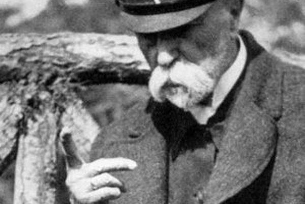 Tomáš Garrigue Masaryk (1850 – 1937), prvý prezident ČSR (1918 – 1945).