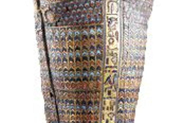 Miniatúrna truhlička, ukrývajúca žalúdok Tutanchamóna.