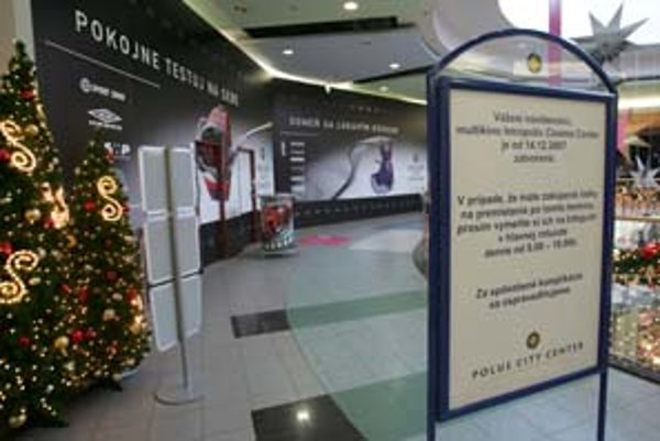 Multikino v Poluse je od 14. decembra zatvorené. Premietať sa tu začne o tri týždne. Nový prevádzkovateľ Palace Cinemas tu plánuje aj meniť zariadenie kina.