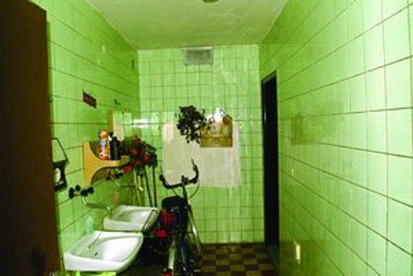 Zákazníčky záchodov v Sade Janka Kráľa víta kytica umelých kvetov.