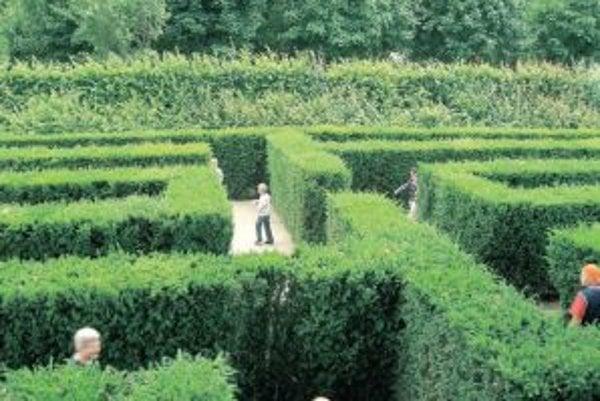 Labyrint v zámockom areáli Schönbrunnu.