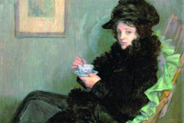Viktor Stretti: Dáma so šálkou, 1902.