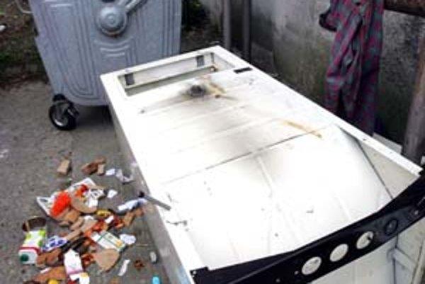 Odpad mimo kontajnerov sa nesmie vykladať už vyše roka. Zákaz sa stále porušuje, pomáha len uzamykanie prístreškov,ktoré však spôsobuje ďalšie problémy. Nevyrovnané pozemky pod stojiskami v Petržalke sťažujú ich úpravu.