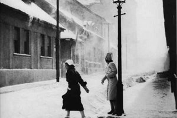 Miloš Dohnány: Zimná ulica – okolie kostola Blumental 1935 – 1943