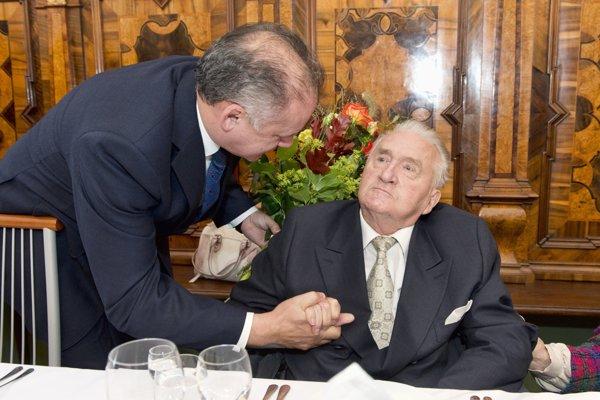 Oslava narodenín Michala Kováča na ktorej sa zúčastnil aj súčasný prezident Andrej Kiska bola vlani v septembri.