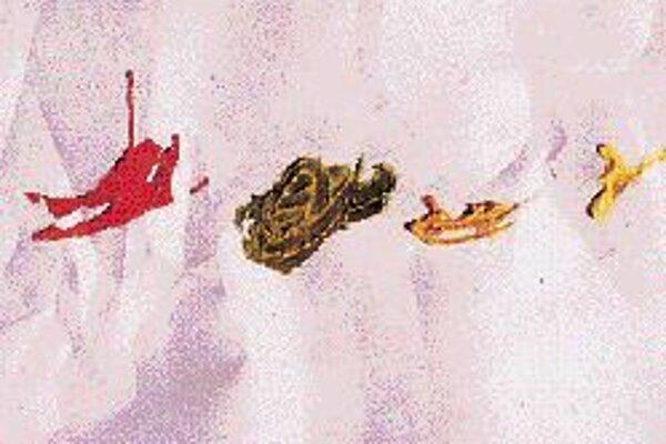Milan Bočkay: z cyklu Papier, 1986. Je to skutočne len pokrčený papier, na ktorom je vytlačená farba, alebo je to dokonale namaľovaná ilúzia?