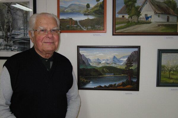 Najstarší vystavujúci autor Zeno Malík a jeho umelecké diela.