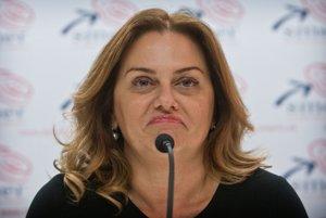 Monika Flašíková Beňová sa z výsledkov neteší.