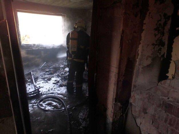 Na mieste zasahovalo až deväť profesionálnych hasičov.