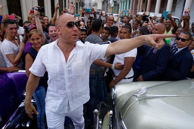 Herec Vin Diesel na prehliadke