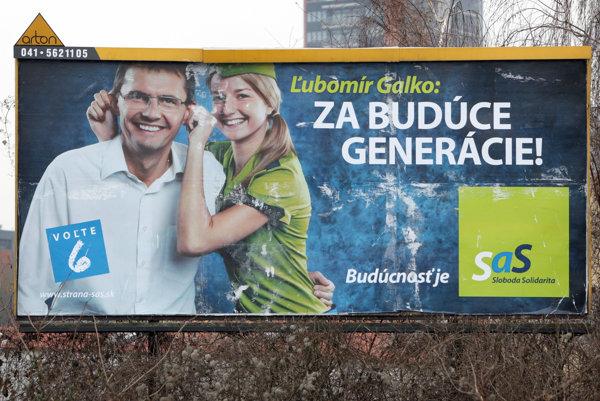 Po odpočúvacej afére na Ministerstve obrany sa Ľubomír Galko v predvolebnej kampani prezentoval fotografiou s nastraženými ušami.