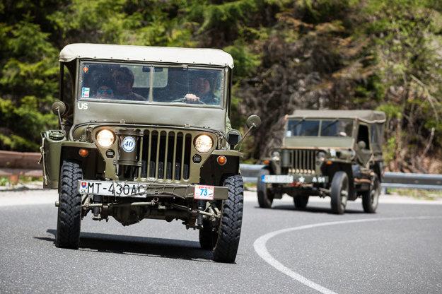 Najstarší automobil Jeep Willys, vyrobený v roku 1943, na ktorom jazdu absolvoval Milan Zimeľ z Bystričky.