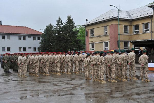 Rozlúčka s vojakmi v Žiline.