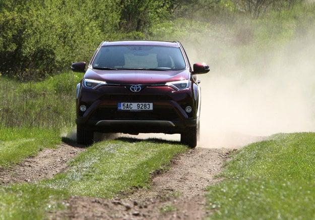 Toto je presne prípad poľnej cesty, kde vám RAV4 dovolí komfortný a svižný prejazd.